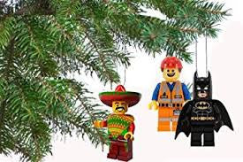 LEGO MOVIE 3 pc Ornament Set: Batman, Taco Tuesday, Construction Man - BLACK FRIDAY SALE