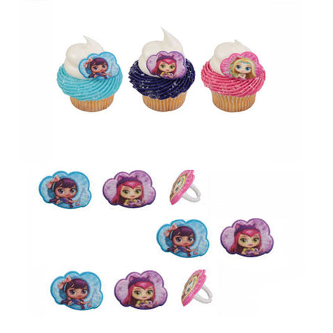 24 little charmers cupcake rings