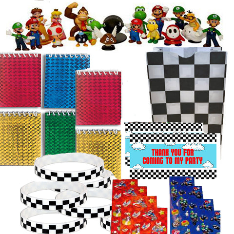 Super Mario Kart Party Deluxe Favor Set - 12 Guests