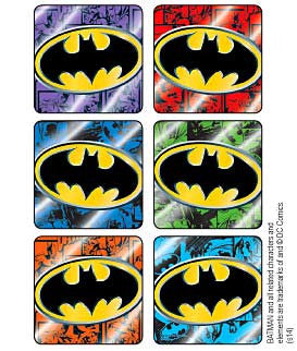 Sticker Pack -  Batman Foil Logos - 90 ct