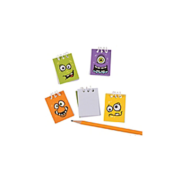 48 Monster Face Mini Notepads - Party Favors
