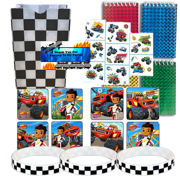 12 Guest Blaze & the Monster Machines Favor Sets
