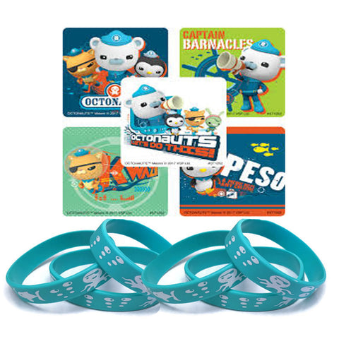 Octonauts stickers & wristband party favors