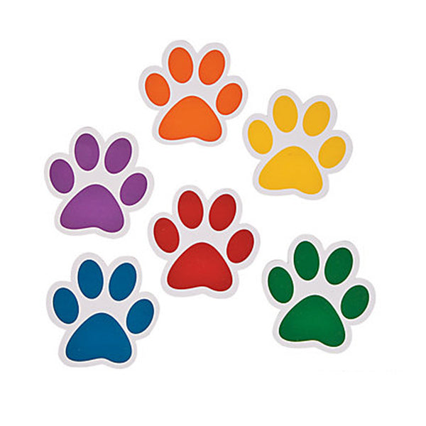 paw dog paper party decoration cutouts