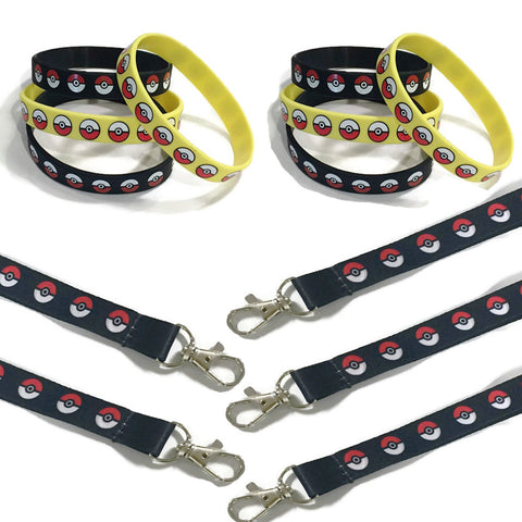 12 Pokeball Lanyards & Wristbands