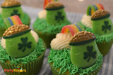 Candy Rainbows 24 Pot of Gold St Patricks Day Cupcake Rings & Green Cups