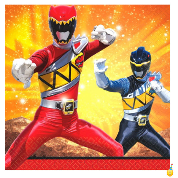 Dino Charged power ranger party napkins