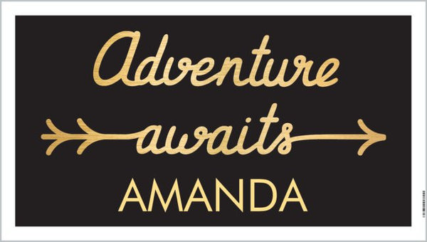 "Personalized Graduation Banner  - ""Adventure Awaits"""