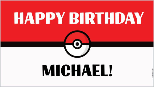 custom pokemon birthday banner