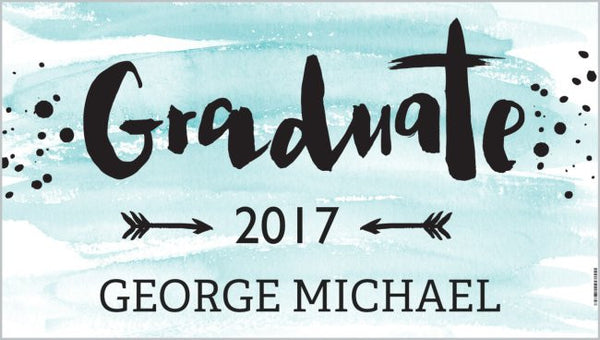 "Personalized Graduation Banner  - ""Graduate 2017"""