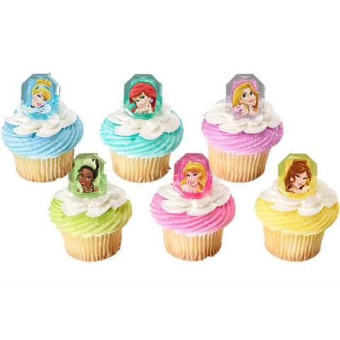 Disney princess cupcake rings
