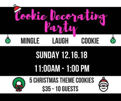 Cookie Decorating Party  {private-lesley} 12.16.18 - one ticket