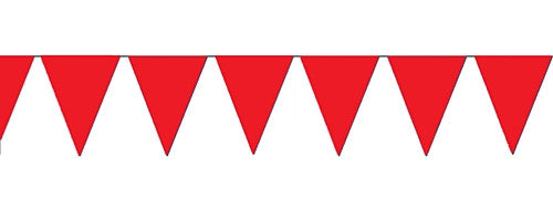 Red Pennant Flag Party Banner