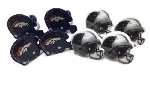 Cupcake Favor Rings - Super Bowl Carolina Panthers & Denver Broncos (24)