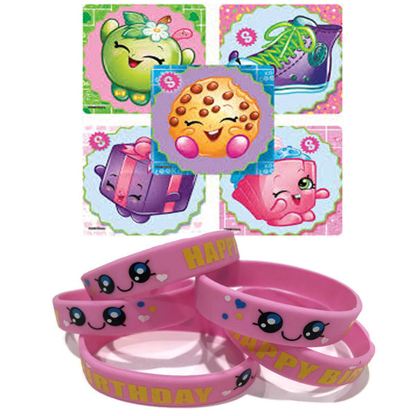 shopkins stickers kawaii party favor wristbands