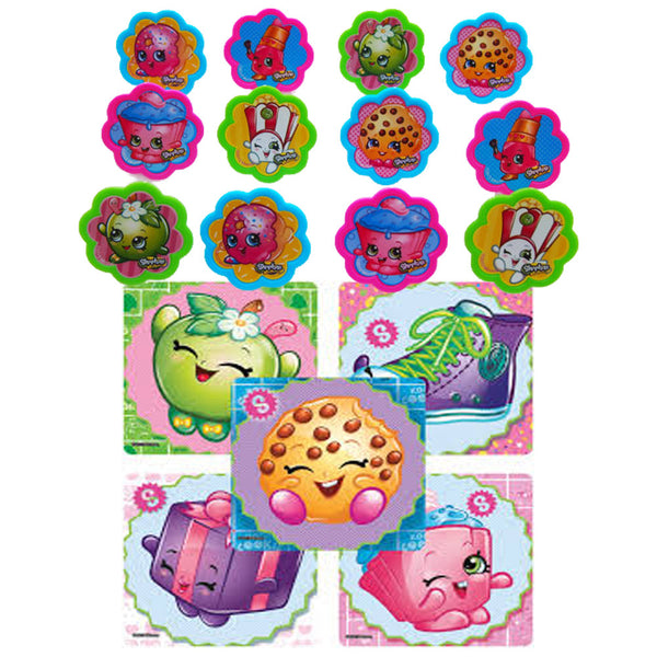 shopkins party favors rings stickers