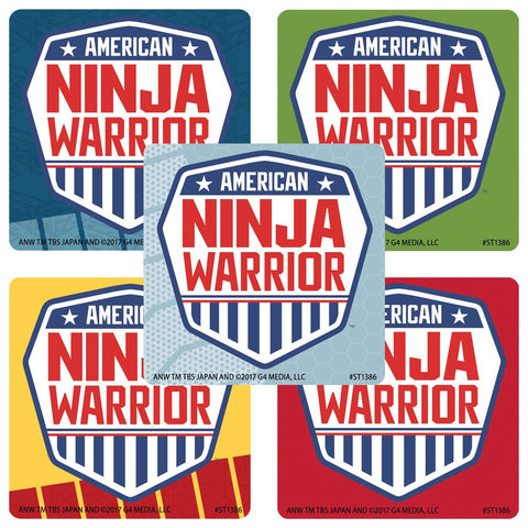 American Ninja Warrior Party Favor Stickers - 50 ct