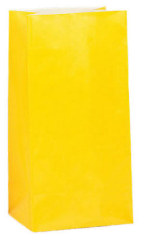 yellow paper favor bags