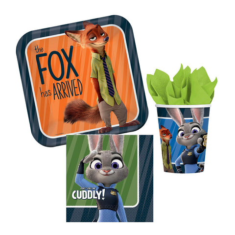 8 Guest Zootopia Tableware Set
