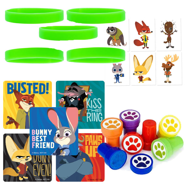 12 Guest Zootopia Favor Sets