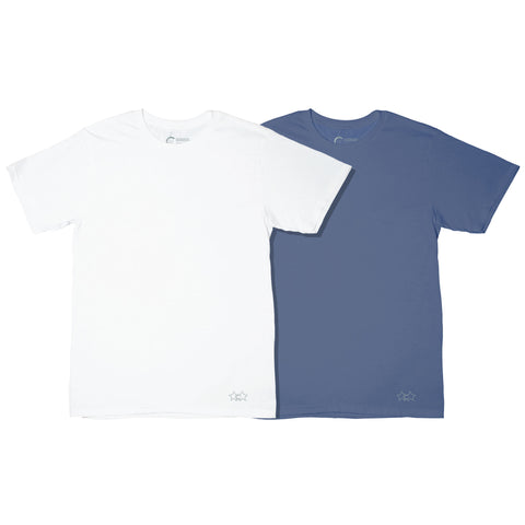Essential Tee Pack White & Blue