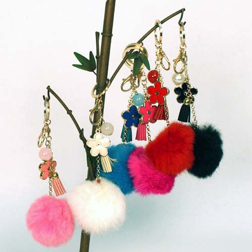 Fun Purse Charms - Pom Poms