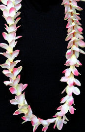 Plumeria -Premium  Silk Flower Lei in Yellow or Pink