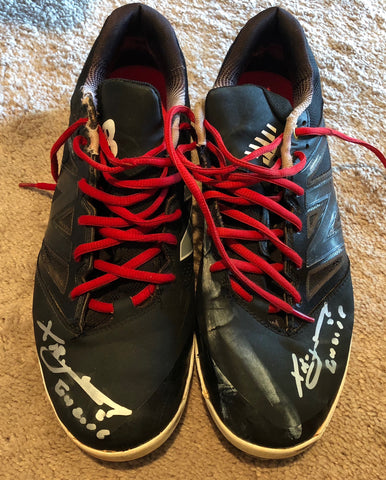 Xander Bogaerts 2015 Game Used Cleats (pair)
