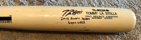 Tommy La Stella 2014 Game Used Uncracked Bat