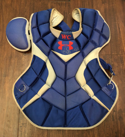 Willson Contreras 2017 Game Used Catcher's Gear Set (red)