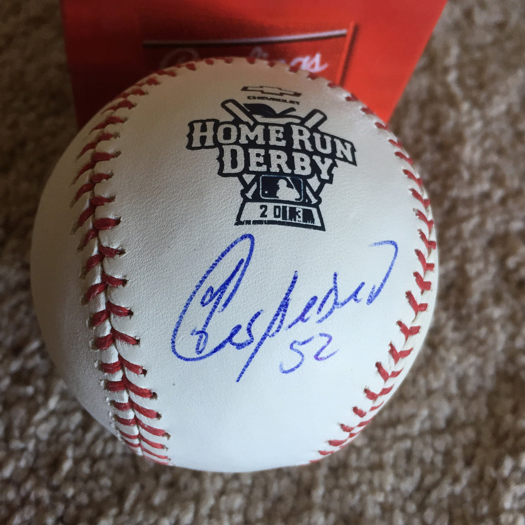 Yoenis Cespedes 2013 HR Derby signed PSA/DNA authenticated Official Major League baseball