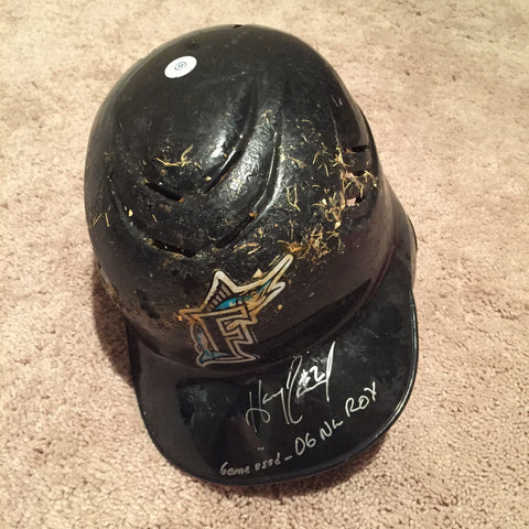 Hanley Ramirez 2012 Game Used Florida Marlins Helmet