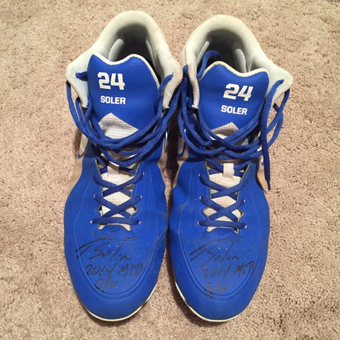 Jorge Soler 2014 Game Used Cleats (pair)