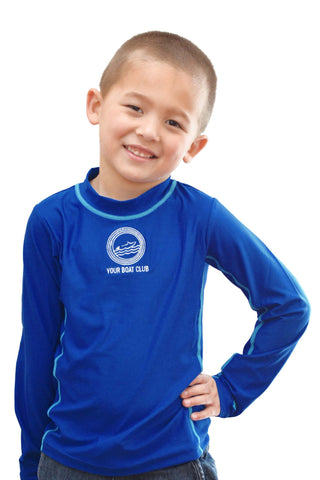Your Boat Club - Coolibar Boys' Long Sleeve Surf Shirt - blue wave (blocks 98% of UVA/UVB)