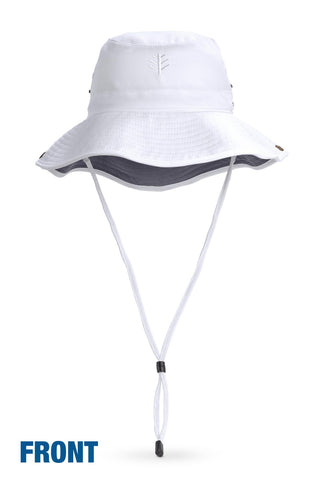 55ab3aa5bfb Your Boat Club - Coolibar Men s Featherweight Bucket Hat - white carbon  (blocks 98