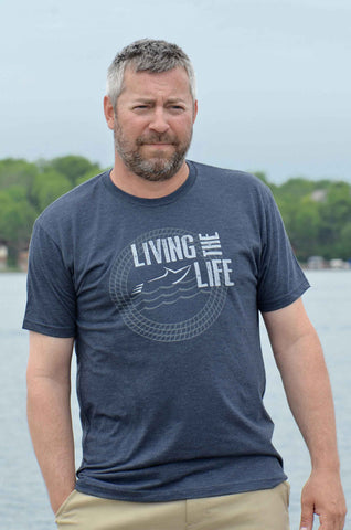 Your Boat Club - Men's Living the Boat Life Graphic Tee - vintage navy