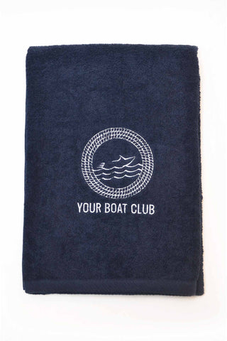 Your Boat Club Luxe Beach Towel - navy