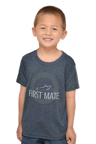 Your Boat Club Youth First Mate Unisex Graphic Tee - vintage navy