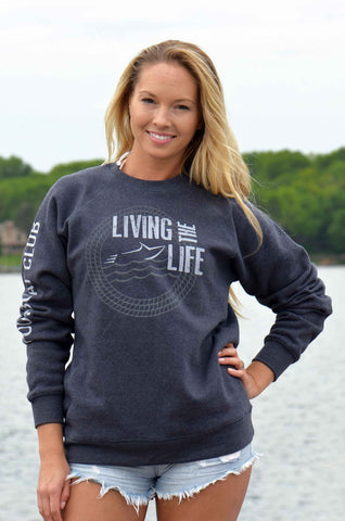 Your Boat Club - Living the Boat Life Unisex Sweatshirt - vintage navy