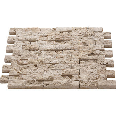 "1"" x 2"" Split Face Durango Travertine Mosaic"