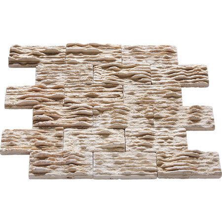 "2"" x 4"" Ledger Durango Travertine Mosaic"