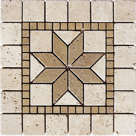 Medallion Star Durango Travertine Tumbled
