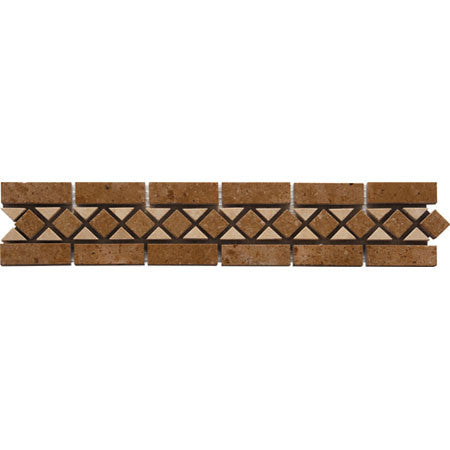 "Border 49F Durango Light Travertine Honed 2.3"" x 12"""