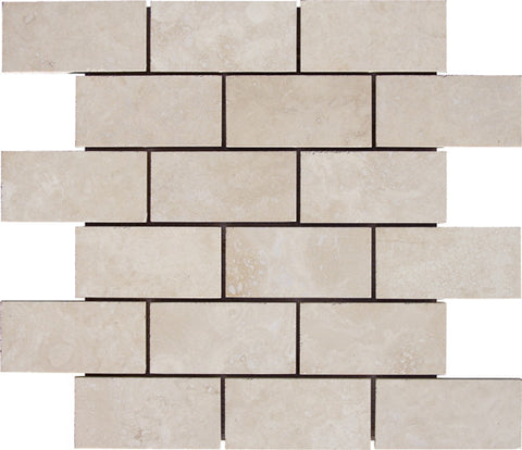 "2"" x 4"" Durango Light Travertine Mosaic Honed"