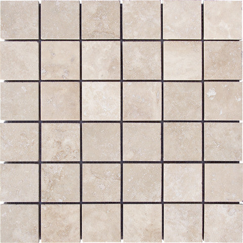 "2"" x 2"" Durango Light Travertine Mosaic Honed"