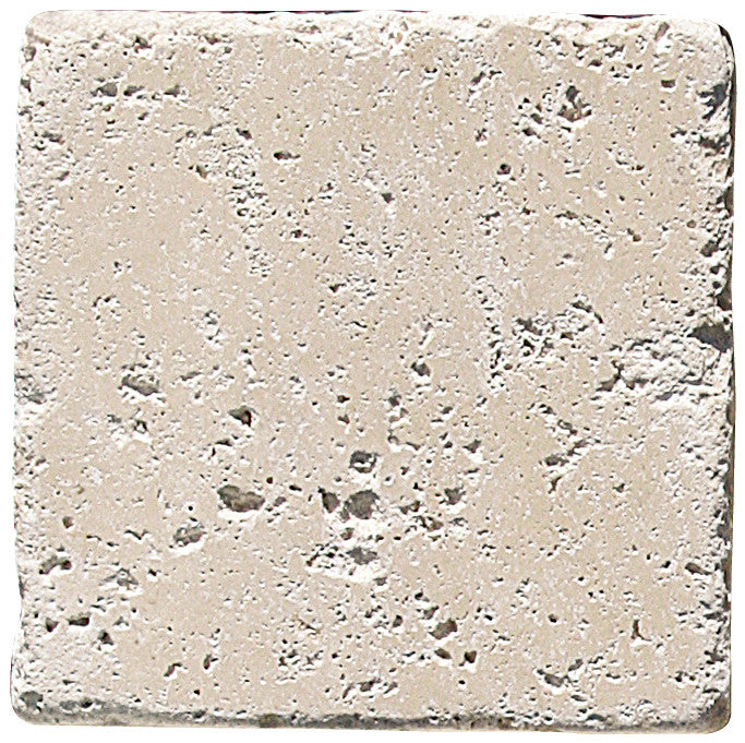 "6"" x 6"" Durango Light Travertine Tile Tumbled"