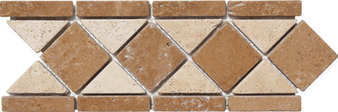"Border 11A Durango Travertine with Noce 4.1"" x 11.8"""