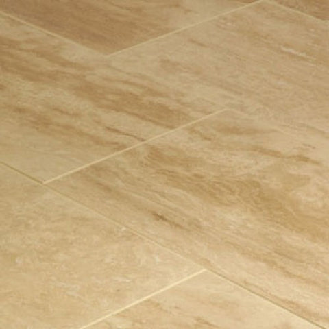 "12"" X 24"" Durango Cream Vein Cut Travertine Polished"