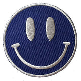 Blue and White Smiley