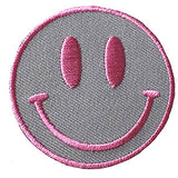 Pink and Gray Smiley